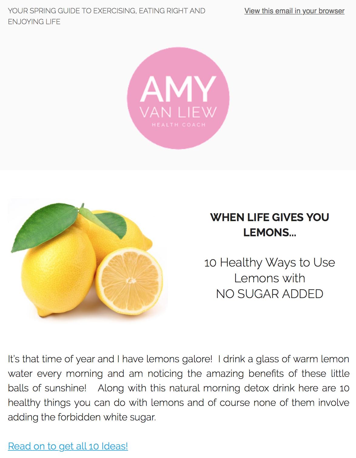 Amy Van Liew Newsletter